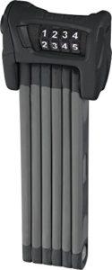 ABUS Faltschloss Bordo Combo 6100/90, Black, 90 cm, 51796