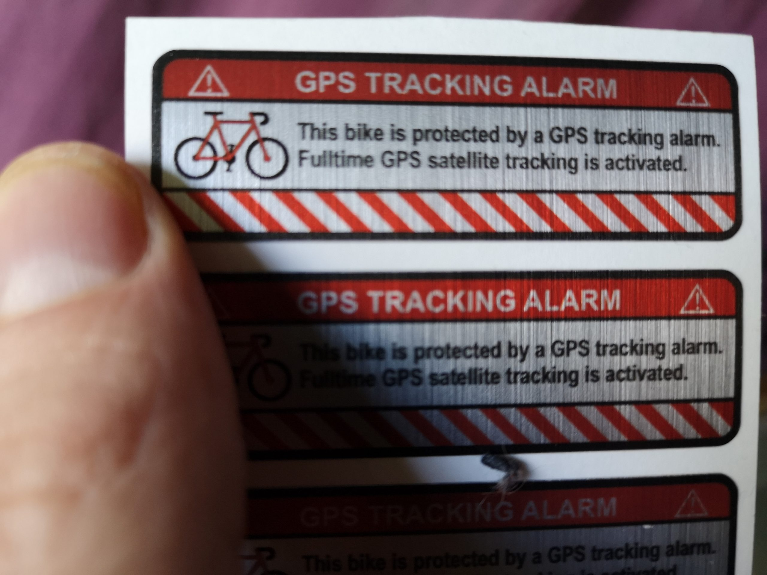GPS Sticker - Test